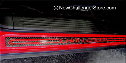 Aluminum door sill Guards with Challenger Logo embedded into sill plate. Add Color vinyl emblem letters to inset in indented logo.  sc 1 st  Dodge Challenger Parts \u0026 Accessories Store & Dodge Challenger Parts and Accessories Store Door sills