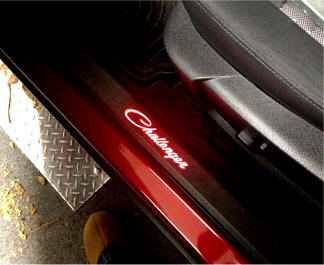 2008-14 version Pictured above shown with  Block  letters & Dodge Challenger Parts and Accessories Store Door sills